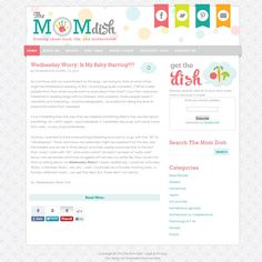 Logo and Web Design: The Mom Dish  from www.strawberrymommycakes.com