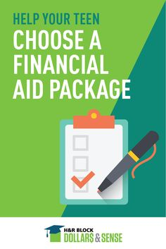 Tips for selecting the right financial aid package for college-bound teens #FinLit #FinEd