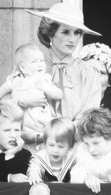 Diana, Harry and William