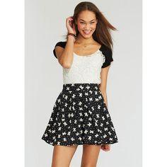 Printed Skater Skirt ($20)