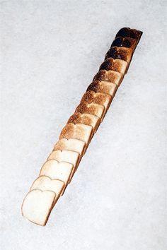 likeafieldmouse:    Van Robinson- Toast Gradient (2012)    Yum. Needs a jam gradient.
