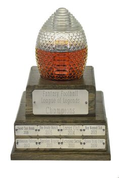 Glass Fantasy Football Trophy Decanter (2 Week Backorder) Football Love, Football Humor, Soccer Humor, Football Shirts, Fantasy Football Game, Fantasy Draft, Home Wet Bar, Football Trophies, Champions Trophy
