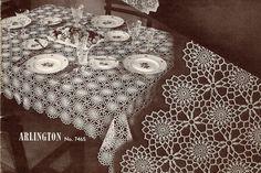 Arlington Crochet Cloth Pattern, Vintage 1940s, is 60 x 80 inches