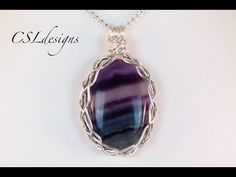 5 strand braid wire wrapped cabochon - YouTube