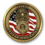 AFOSI Sandblasted Coin