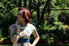 We miss summer and you guys?? #BannedApparel #TwoLippyLadies #summerdress #beige #birds #rockabilly #retro #flower