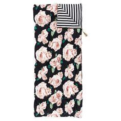 The Emily & Meritt Bed Of Roses Sleeping Bag + Pillowcase | PBteen