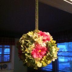 """Hanging """"Kissing Ball"""" arrangement #handmade #design"""