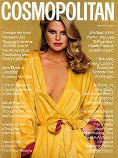 Cosmopolitan magazine, MAY 1978 Model: Christie Brinkley Photographer: Francesco Scavullo Fashion Cover, 70s Fashion, Fashion Models, Vintage Fashion, American Fashion, Vintage Glam, Vintage Vibes, Style Fashion, Christie Brinkley