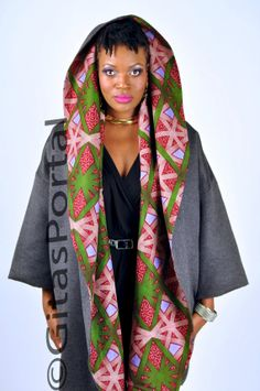 Red White and Green snow flake Vlisco print on by Gitasportal2011, £165.00