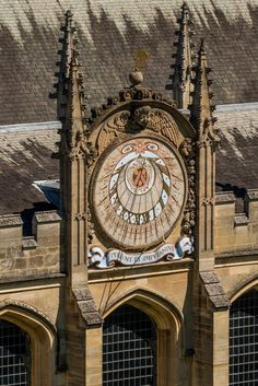 Sundial by Oxford University Images. View and buy high quality rights managed images from inside the world famous university - University of Oxford, its colleges, departments and museums. Unique Clocks, Cool Clocks, Sistema Solar, Oxford United Kingdom, Chester Cathedral, Oxford City, Building Photography, A Discovery Of Witches, Father Time