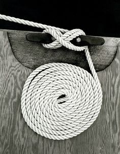 'A coiled rope on a dock', art print by Trigger Image  on artflakes.com