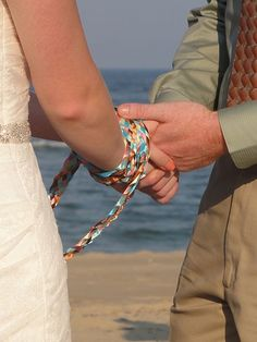 Looking for a non-traditional wedding ceremony? How about handfasting, an ancient Celtic wedding custom that is beautiful and meaningful. Handfasting is not just for Pagan weddings. Wiccan Wedding, Wedding Rituals, Celtic Wedding, Wedding Ceremony, Unity Ceremony, Scandinavian Wedding, Handfasting Cords, Couple Hands, Color Meanings
