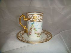 Sweet - JP - Limoges - France - Chocolate - Coco - Coffee - Demitasse from onlyfinelines on Ruby Lane