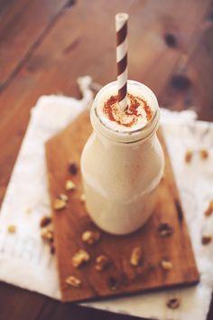 Banana Bread Protein Shake! Base for a protein shake and: PinchNutmeg (or pumpkin pie spice) PinchCinnamon 1/2 mediumRipe banana, (fresh or frozen) 1/2 tspButter extract or vanilla extract Calories: 230 WWP: 6