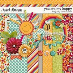 You Are My Happy mini kit freebie from Jady Day Studio