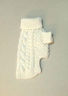 Perro  ropa del animal doméstico  blanco perro suéter