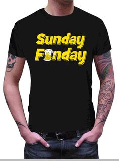 21c0d0b8eb1 Beer Drinking Tees - Sunday Funday T-Shirt. Bewild