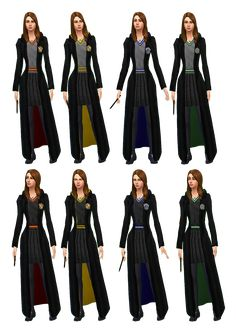 Harry potter robes to by mathcope (sims specifications: *base game compatible. *teens, young adults, adults and elders. Harry Potter Uniform, Harry Potter Kostüm, Harry Potter Dress, Harry Potter Outfits, Hogwarts Robes, Hogwarts Uniform, Sims 4 Cc Skin, Sims Cc, Sims 4 Cc Kids Clothing