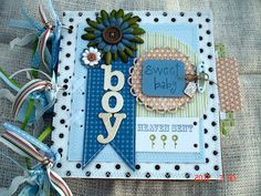 Scrapbooking by Phyllis: Premade Sweet Baby Boy Premade 8x8 Paper Bag Scrap...