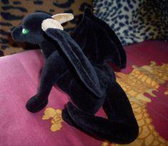 stuffed dragons | Black Dragon plush - SEWING PATTERN & INSTRUCTIONS