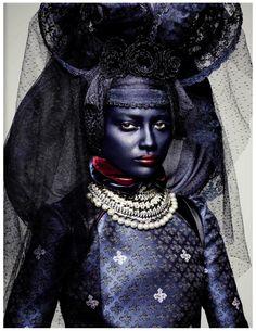 robertocustodioart: Enyelisa de La Rosa by Ben Hassett, Vogue Italia November 2012