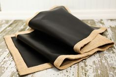 Chalk board material table runner! Etsy! http://www.etsy.com/listing/111426868/chalk-cloth-table-runner-by-monmell