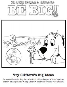 clifford preschool coloring pages - photo#24