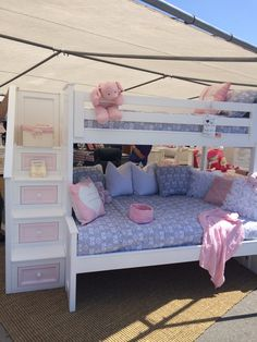 """Obtain terrific ideas on """"modern bunk beds for girls room"""". They are on call for you on our internet site. White Bunk Beds, Modern Bunk Beds, Cool Bunk Beds, Bunk Beds For Girls Room, Kid Beds, Girls Bedroom, Bed Rooms, Bedroom Ideas, Bed Stairs"""