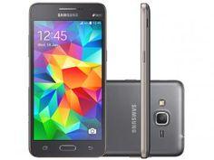Smartphone Samsung Galaxy Gran Prime Duos  de R$ 929,00 por R$ 639,90  R$ 51,19 em até 7x de R$ 91,41 sem juros no cartão de crédito  Adicionar ao carrinho Produto disponível apenas para algumas regiões do   8GB - Cinza Dual Chip 3G Câm 8MP + Selfie 5MP Desbl. Tim