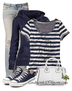 """Casual Day"" by cindycook10 ❤ liked on Polyvore featuring Free People, Fat Face, Pepe Jeans London, Folli Follie and Converse"