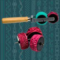 Korbus - rollers, shafts patterned