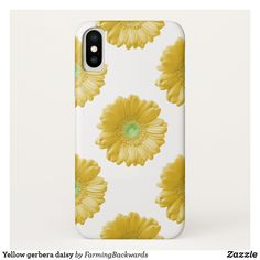 Shop Yellow gerbera daisy Case-Mate iPhone case created by FarmingBackwards. Yellow Daisies, Gerbera, Plastic Case, Apple Iphone, Create Your Own, Daisy, Lemon, Iphone Cases, Hands