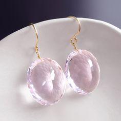 14k Pink Topaz Earrings by BijouxOdalisque on Etsy, $210.00