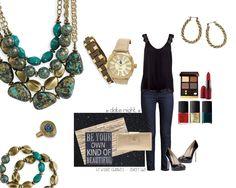 premier designs style || rock it necklace. rock it bracelet. kenzie bracelet. simple twist earrings. in vogue watch. flip it ring. #premierdesigns #pdstyle. sallyheavener.mypremierdesigns.com