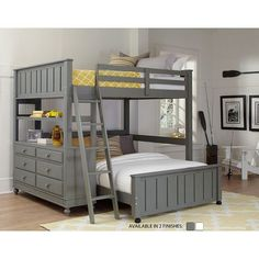 Found it at Wayfair - Lake House Loft with Full Size Lower Bed