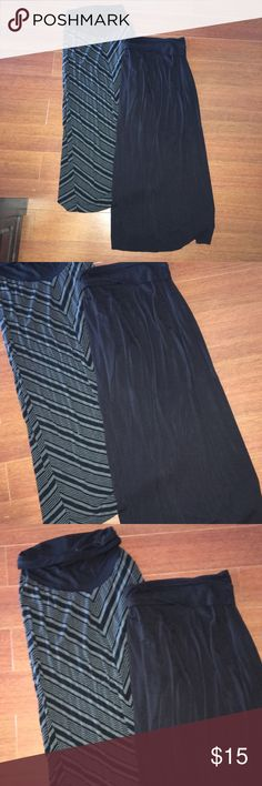 Motherhood Maxi Skirt Bundle Size medium. Two maxi skirts from Motherhood. Worn very few times. Excellent condition. No signs of wear. Bundle with other items and save. Motherhood Maternity Skirts Maxi