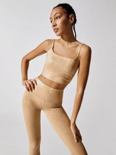 METALLIC SNAKE CAMI Sporty Chic Outfits, Sporty Chic Style, Workout Attire, Sports Leggings, Workout Tops, Athleisure, Cami, Snake, Ready To Wear