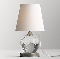 Rh babychilds lourdes stacked crystal ball table lamp base carat table lamp cb2 see more 126 mozeypictures Choice Image
