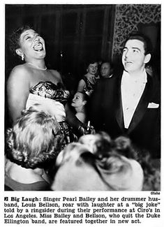 Pearl Bailey and Husband Louis Bellson - Jet Magazine, April 9, 1953