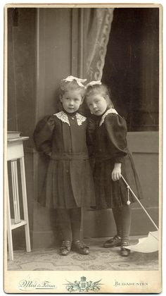 Adorable sisters, cabinet card