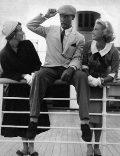 Cary Grant with wife Betsy Drake and friend Grace Kelly, 1955