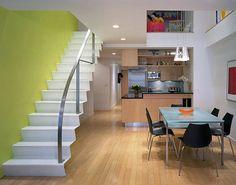 Yellow-green modern staircase