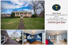 Amazing home at 8915 Longstreet Dr Manassas VA 20110 will have an OPEN HOUSE on Sunday, December 20th, 1-4 PM. Call Gene Mock for more info at 703.342.8100.