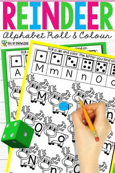 Christmas is such a fun time for kids! These Reindeer Alphabet Recognition Activities will be the perfect addition to any alphabet center in the classroom or in any homeschool setting during the month of December! Christmas Activities For Kids, Preschool Songs, Preschool Literacy, Alphabet Activities, Christmas Printables, Preschool Ideas, Kindergarten, Letter Identification Activities, Abc Coloring Pages