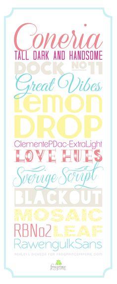 Free Summer Fonts