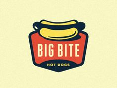 Big Bite Hot Dogs Logo  by Emir Ayouni