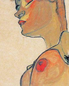 Totes Mädchen (Detail) by Egon Schiele, 1910