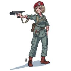 Anime Military, Military Girl, Military History, Fantasy Comics, Anime Fantasy, Military Archives, Anime Uniform, Cool Anime Girl, Girls Frontline