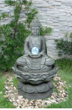 Indoor fountains with Buddha attractive design beautiful decoration